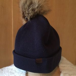 KEDS Pom stretch Navy Blue Hat NEW